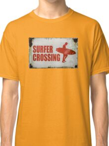 Vintage Surfer Crossing Sign Classic T-Shirt