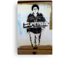 Superbad graffiti Canvas Print