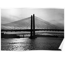 Tilikum Crossing and Ross Island Bridge (Portland) Poster