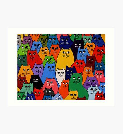 Cat Pack 2 Art Print