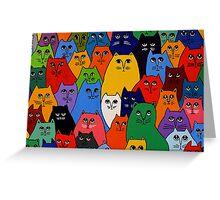 Cat Pack 2 Greeting Card
