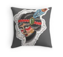 Bearded Lady (Totes, Pillow, Tees Version) Throw Pillow