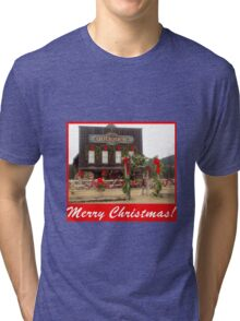 Old Fashioned Merry Christmas! Tri-blend T-Shirt