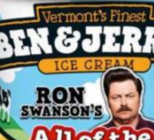 Ron Swanson's Ice Cream Sticker