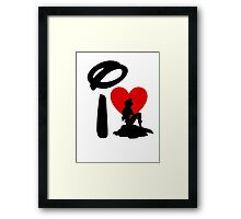 I Heart Little Mermaid Framed Print