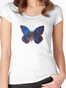 the influence of butterflies Women's Fitted Scoop T-Shirt