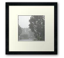 Some serious rain Framed Print