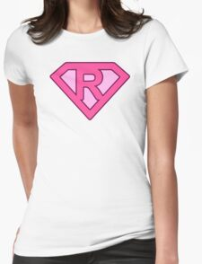 R letter Womens Fitted T-Shirt
