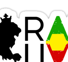 Rasta Livity BLK HRZ Sticker