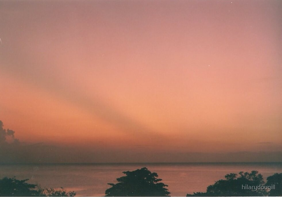 Jamaican sunset by hilarydougill