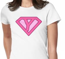 Y letter Womens Fitted T-Shirt