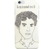 sketch of Bennedict Cumberbatch from sherlock iPhone Case/Skin