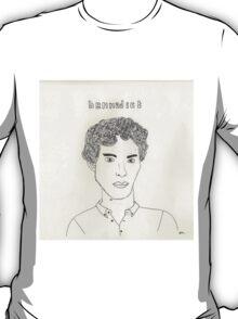 sketch of Bennedict Cumberbatch from sherlock T-Shirt