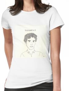 sketch of Bennedict Cumberbatch from sherlock Womens Fitted T-Shirt