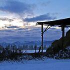 Sunset Bench by Ann Rodriquez
