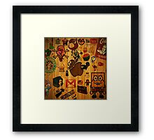 Stickers! Framed Print