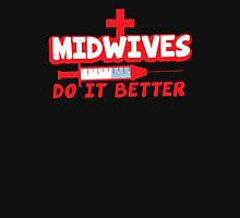 Midwives do it better! with needle Womens Fitted T-Shirt