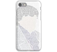 BBC Sherlock Holmes Typography iPhone Case/Skin