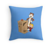 Calvin's new ride Throw Pillow
