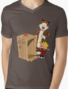 Calvin's new ride Mens V-Neck T-Shirt