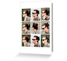 Harry Styles Man Bun Apreciation Greeting Card