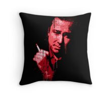 Bill Hicks (red) Throw Pillow