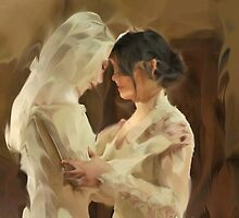 Stahma and Christie before the Wedding by IndoLovePaints