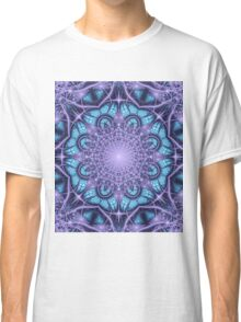 Artistic Winter pattern in blue and purple Classic T-Shirt