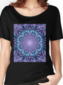 Artistic Winter pattern in blue and purple Women's Relaxed Fit T-Shirt
