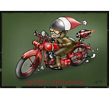 CHRISTMAS MOTORCYCLE STEAMPUNK  Photographic Print