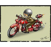 MOTORCYCLE 'HARLEY DAVIDSON' STYLE  Photographic Print