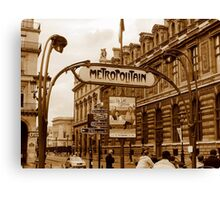 Le Metro - Paris, France Canvas Print