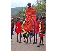 Jumping Masai Photographic Print