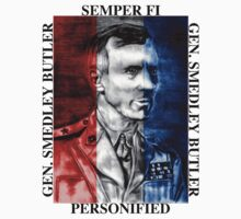 General Smedley Butler: Semper Fi (Always Faithful) Personified, Style 1 by Steven Torrisi