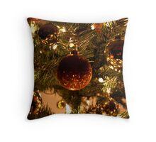 Christmas Globes Throw Pillow