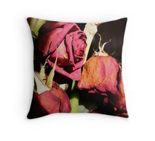 Fallen Flora Throw Pillow
