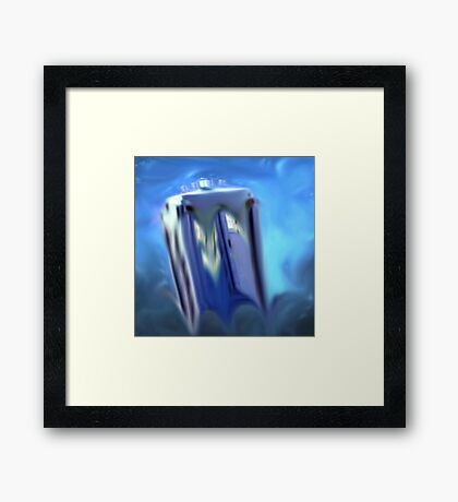 dr, who, tardis, melting, dali, Framed Print
