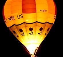 Hot Air Balloon at Night by PCDC