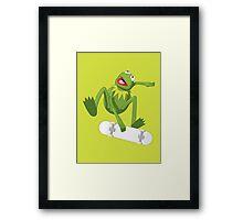 Skate Frog Framed Print