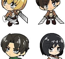 Attack on Titan - Sticker Sheet Collection by 57MEDIA