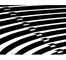BW Abstract Stairs Photographic Print