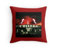 Twister Fairground Ride Throw Pillow