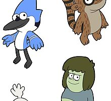 Regular Show Sticker Sheet 1 Collection by 57MEDIA