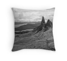 The Old Man Of Storr BW Throw Pillow