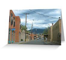 Streets of Santa Fe Greeting Card