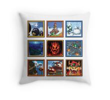 Super Mario 64 Paintings Throw Pillow