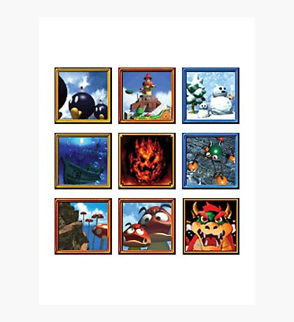 Super Mario 64 Paintings Photographic Print
