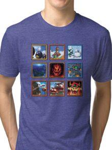 Super Mario 64 Paintings Tri-blend T-Shirt