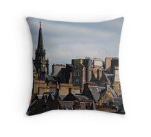 Edinburgh Old Town Throw Pillow