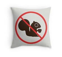 No Squirrels Throw Pillow